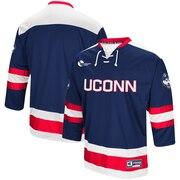 UConn Huskies Colosseum Athletic Machine Hockey Sweater Jersey - Navy