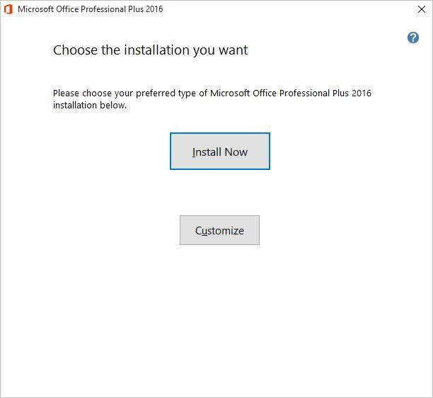 ms office 2016 volume license key