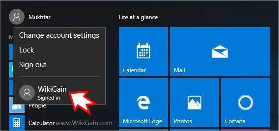 Create New Local Account Windows 10