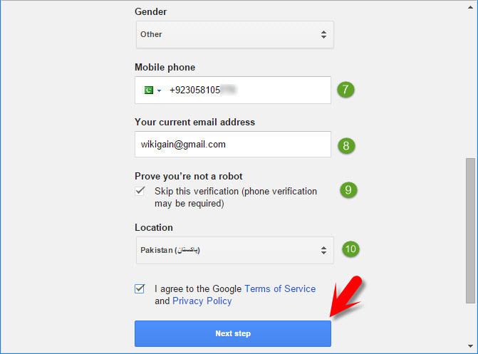 Google Terms & conditions
