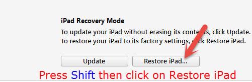 Restore iPad Software