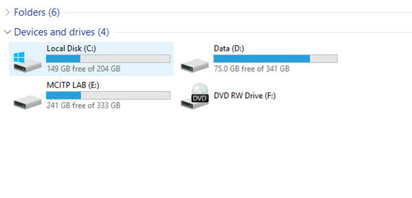 Deleted New Local Drive