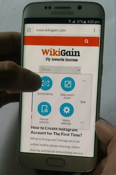 How to take screenshot via assistive touch