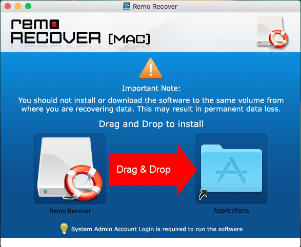 Install Remo Recovery Software on Mac