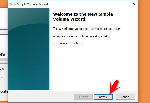 New Simple Volume Wizard