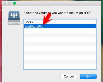 Select Share Folder