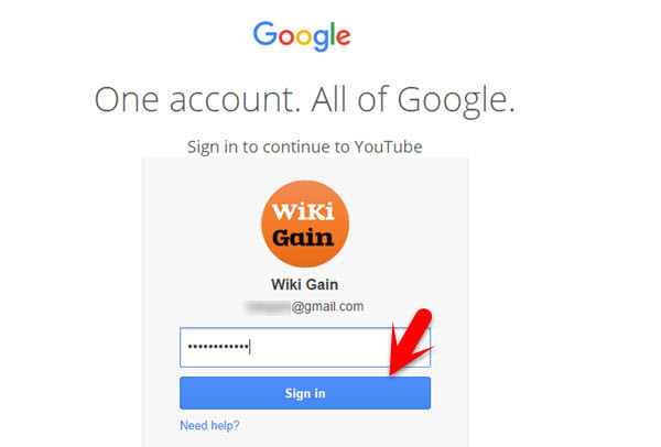 Sign In with Gmail Account