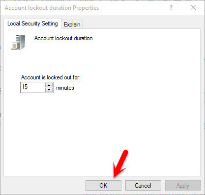 Account Lockout Duration