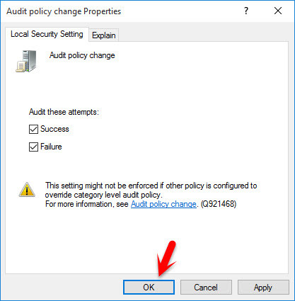 Audit Policy Change