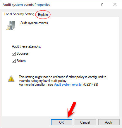 Audit System Events