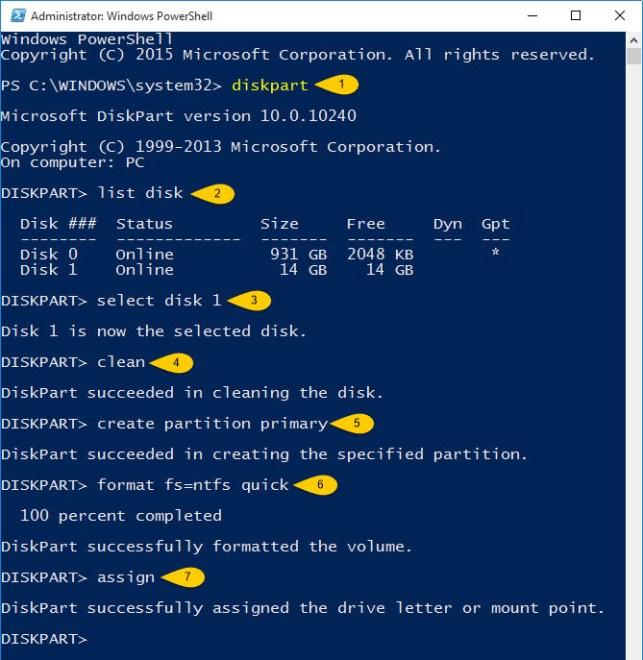 Create Bootable USB Flash Drive PowerShell