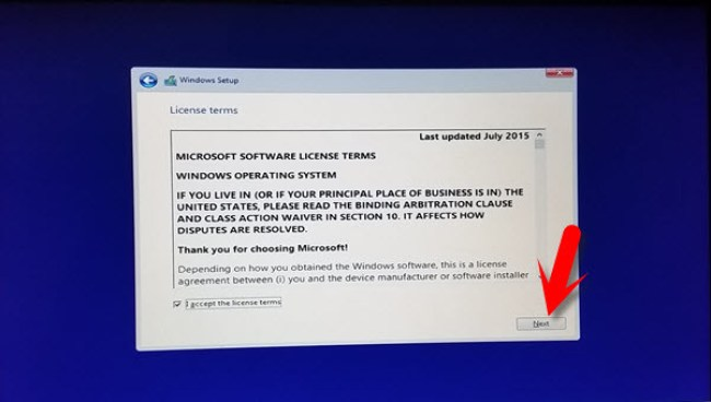 Accept License Agreement