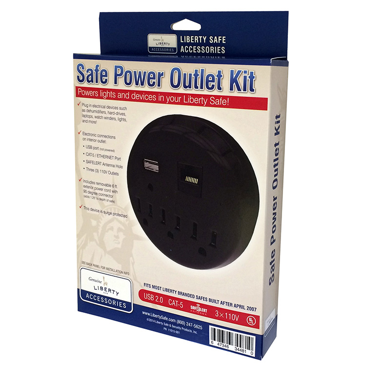 liberty safe power outlet kit for