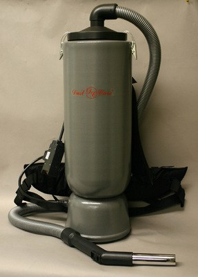 "DustCare BACKPACK w/1.25"" Hose - Silver (10 quart capacity)"