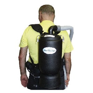 "Dust Care BACKPACK w/1.25"" Hose - Black (6 Quart Capacity)"