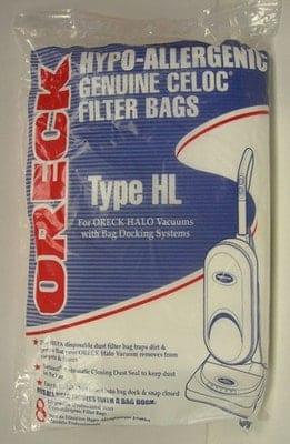 "Oreck ""HL"" HEPA13 BAGS - 8pkg (HALO)"