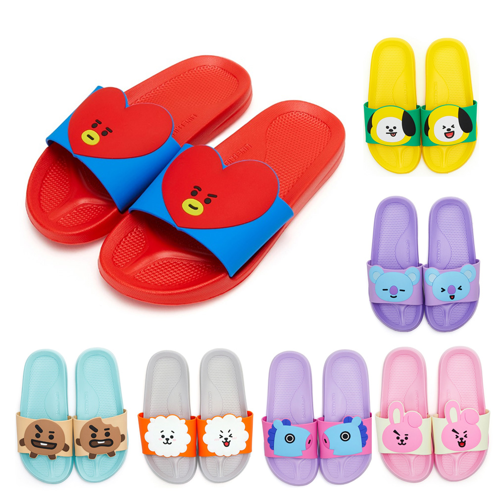 be6a617c2850 OFFICIAL BT21 CHARACTER SLIPPER