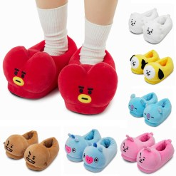 BT21 Plush Slippers