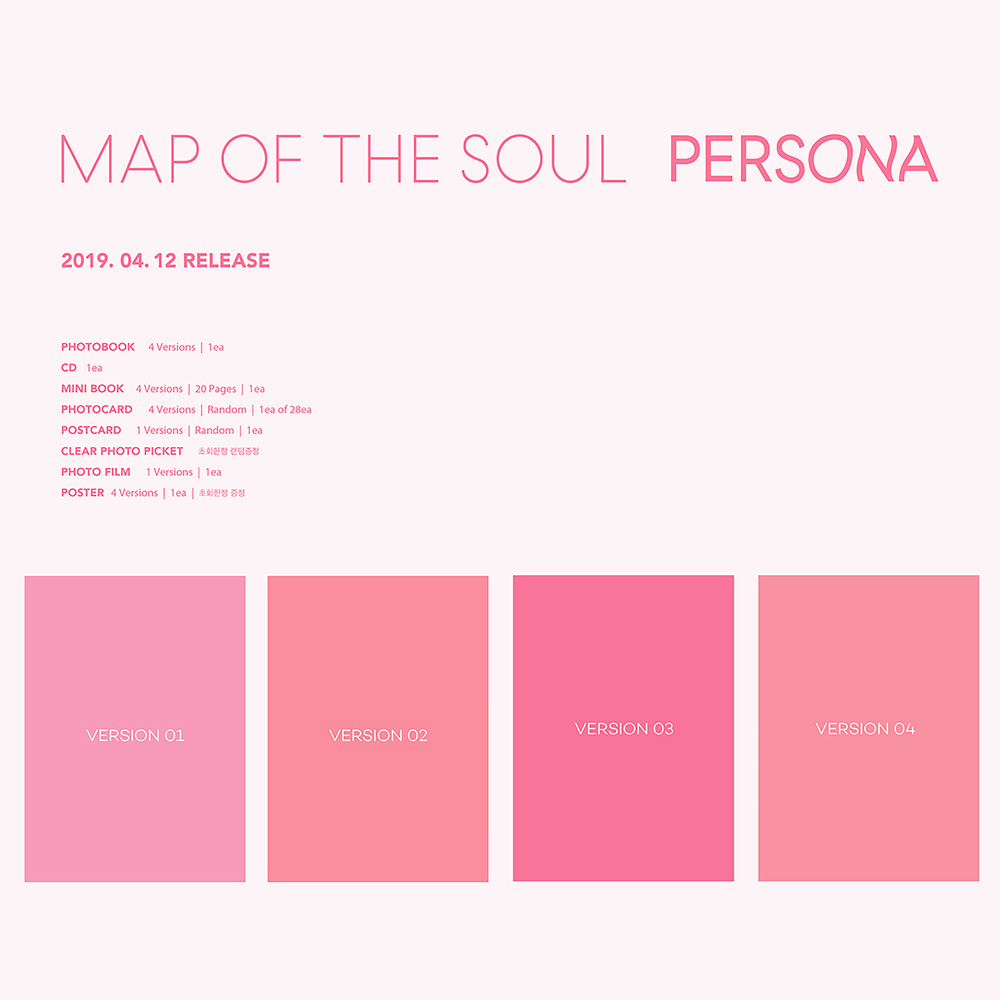 Bts Map Of The Soul:persona Bangtan Boys Album Cd+poster+photobook+postcard+film Cds Other Music Memorabilia