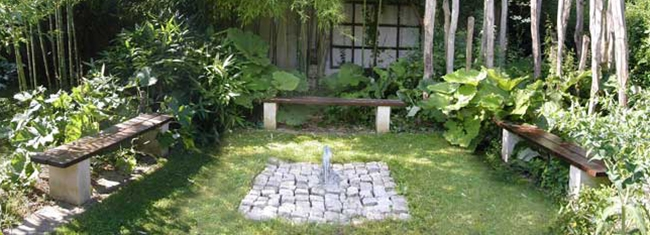La fontaine du jardin zen