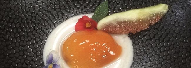 Abricot au sirop sur kanten