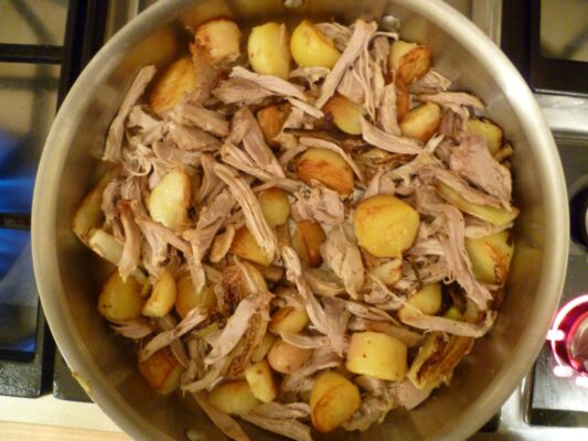 Recipe: leftover pork, fennel and potatoes