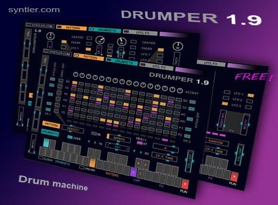 Drumper drum machine free, free vst