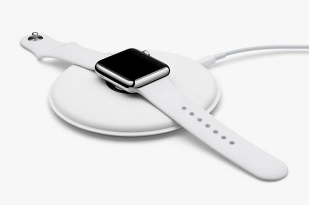 Apple Watch plat op het dock