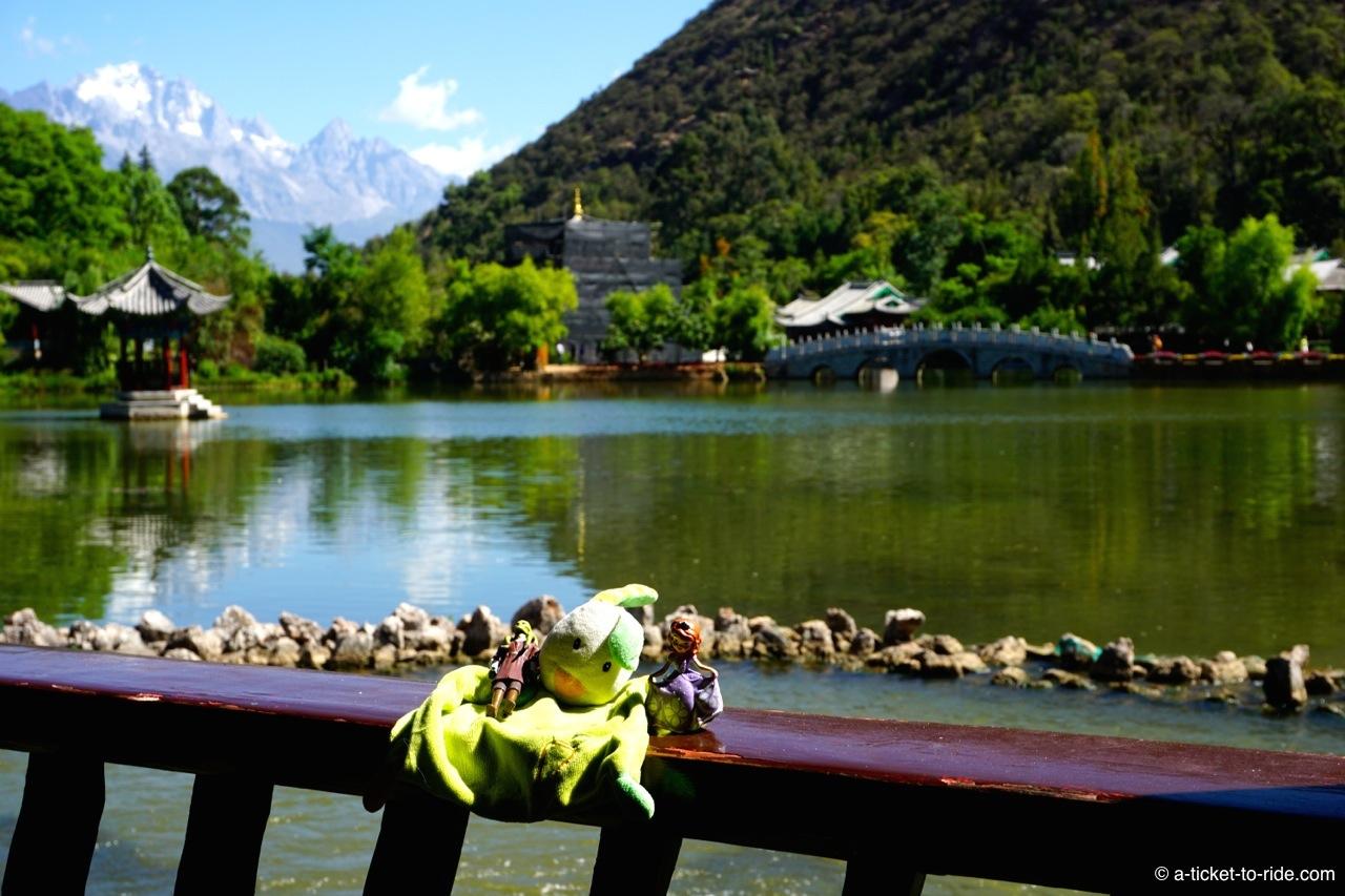 Chine, Lijiang, étang du Dragon noir