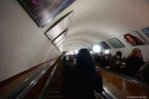 Moscou, escalator du métro