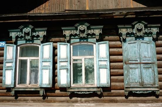 Russie, Oulan Oudé, maison en bois