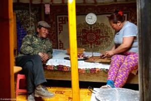 Mongolie,sous la yourte