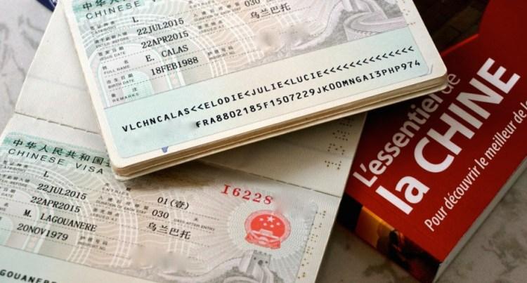 Chine, visa