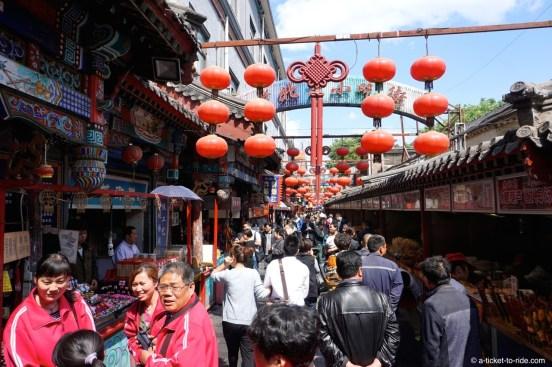 Chine, Pékin, marché de Wangfujing