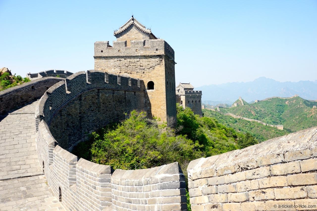 Chine, Jinshanling, Grande Muraille, partie rénovée
