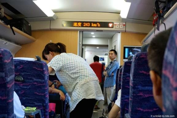 Chine, vitesse train express