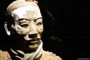 Chine, Xi'an, armée de terre cuite, détail