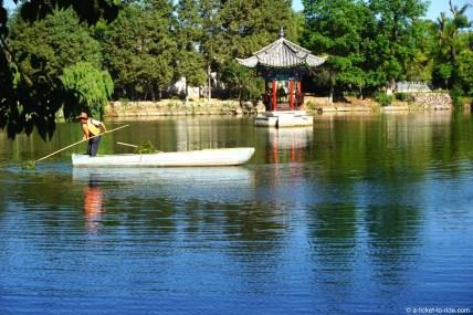Chine, Lijiang, parc de l'étang du Dragon noir