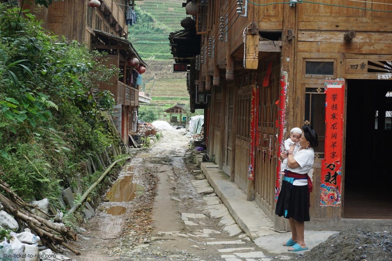 Chine, rizières de Longji, village de Dazhaï