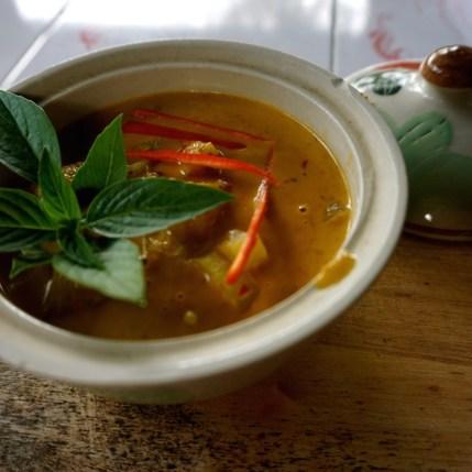 Thaïlande, Chiang Mai, curry jaune au poulet