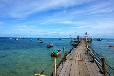 Thaïlande, Koh Tao, ponton