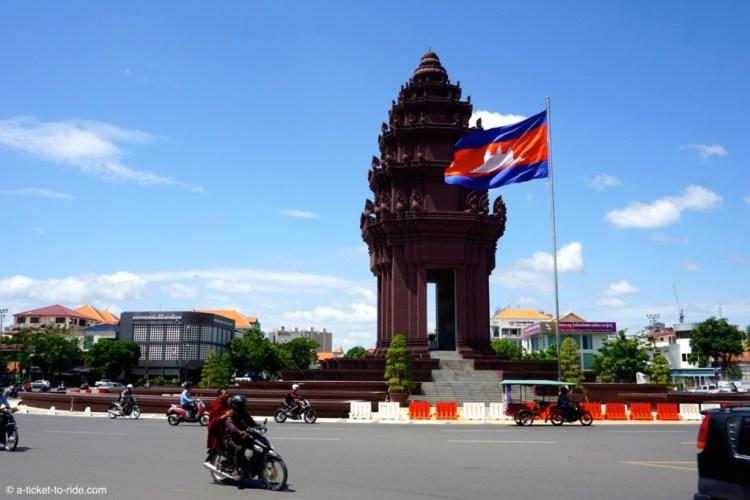 Cambodge, Phnom Penh, monument de l'indépendance