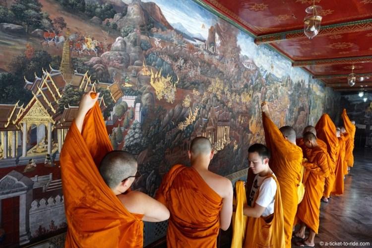 Thaïlande, Bangkok, moines