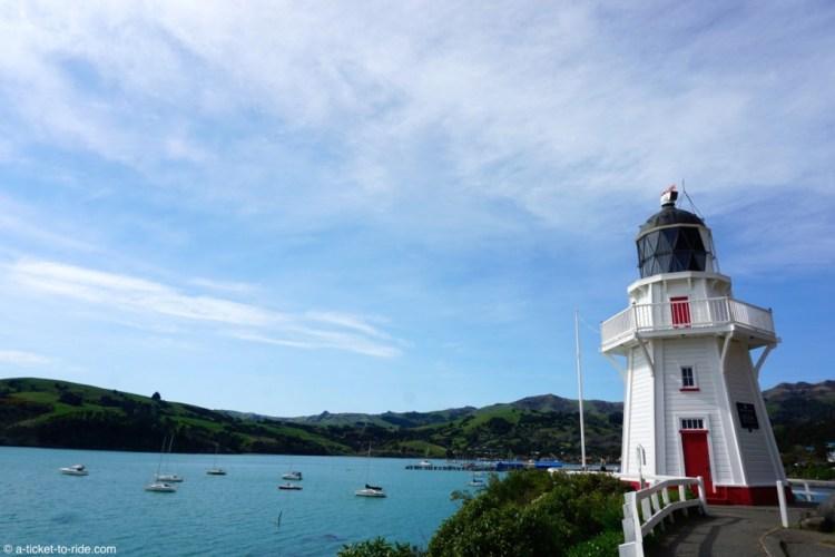 Nouvelle-Zélande, phare d'Akaroa