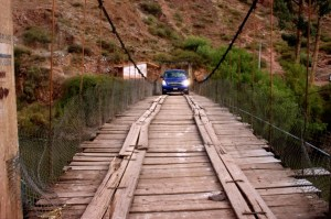 Pérou, nouveau van sur le pont