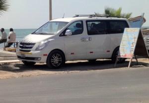 Van de location, récupéré à Lima