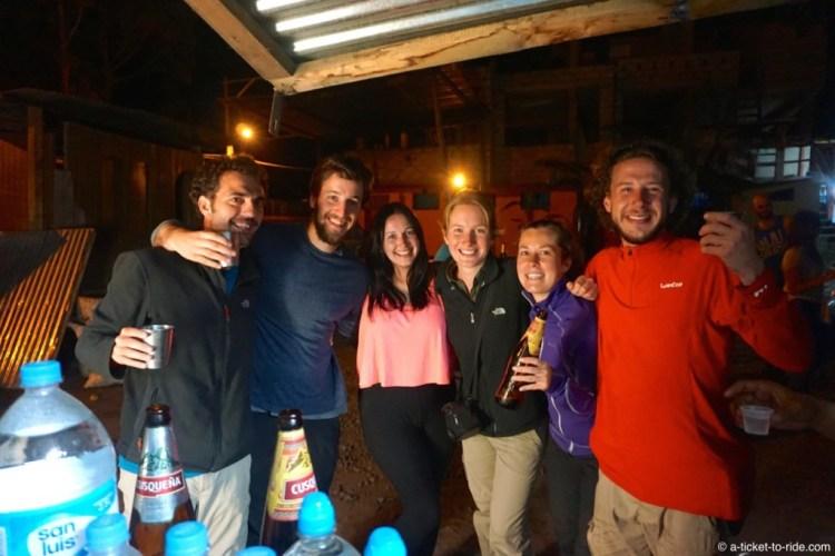 Pérou, trek du Salkantay, soirée inka tekila