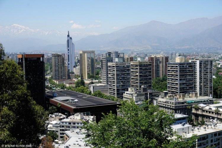 Chili, Santiago, cerro Santa Lucia