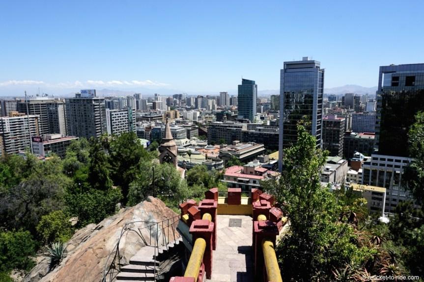 Chili, Santiago, cerro Santa-Lucia