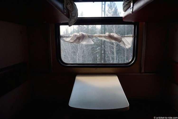 Russie, transsiberien, fenetre wagon